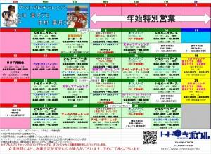 2014年1月競技会スケジュール